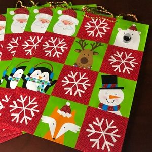 Other - 5 Christmas Gift Bags. 20x15 NWT
